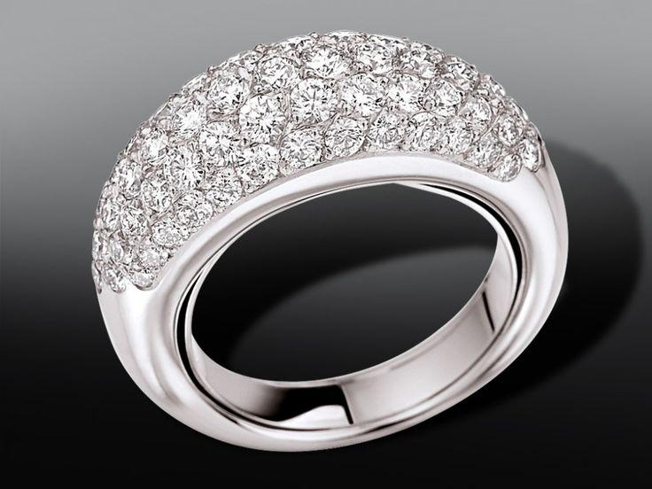 Bijouterie BG Bruno, Joaillier à Vannes -- BAGUES B.G. BRUNO CORVETTE Bague pavage diamants