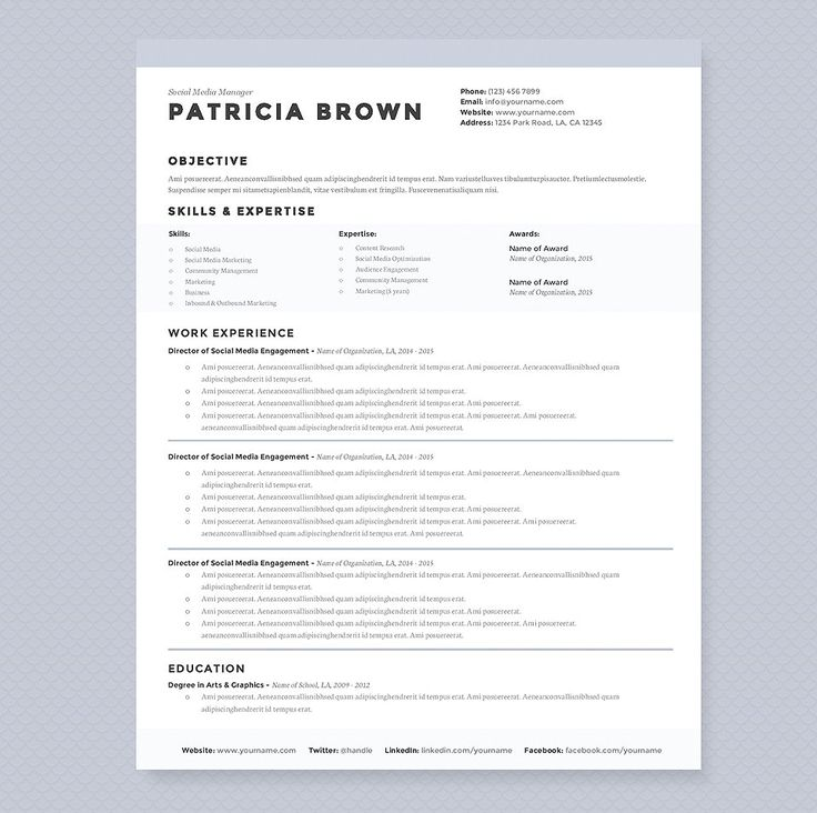 13 templates de CV para creativos Professional resume, Profile - Resume With Photo Template