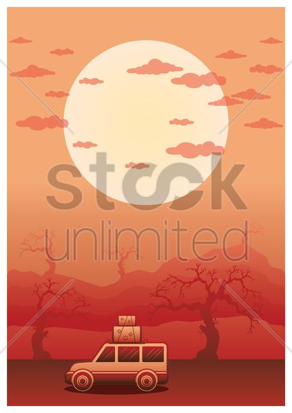 travelling poster vector graphic