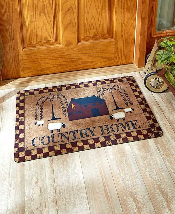 Place This Indoor Outdoor Country Themed Mat At Your Front