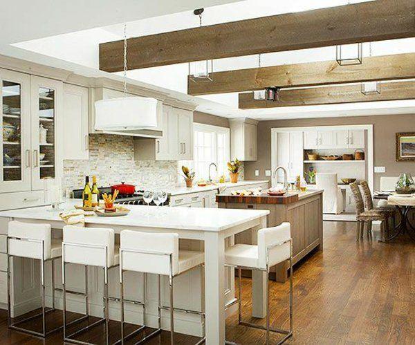 Küchen mit Kochinsel küchenblock freistehend landhausküche