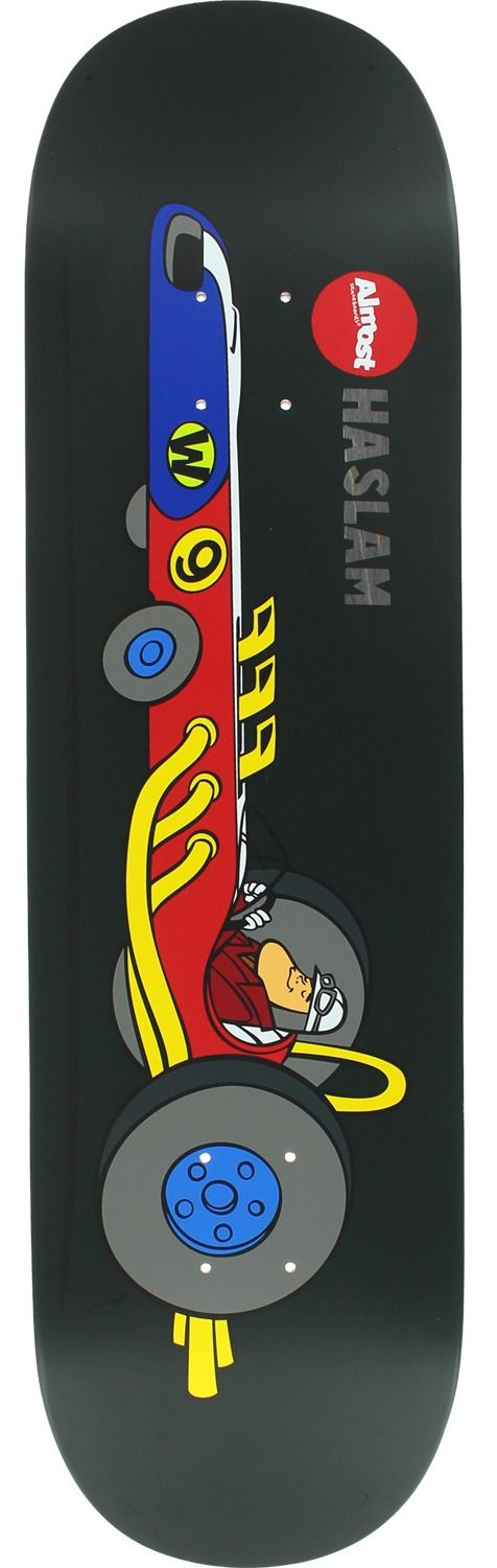 Almost Skateboards Chris Haslam Wacky Races Deck