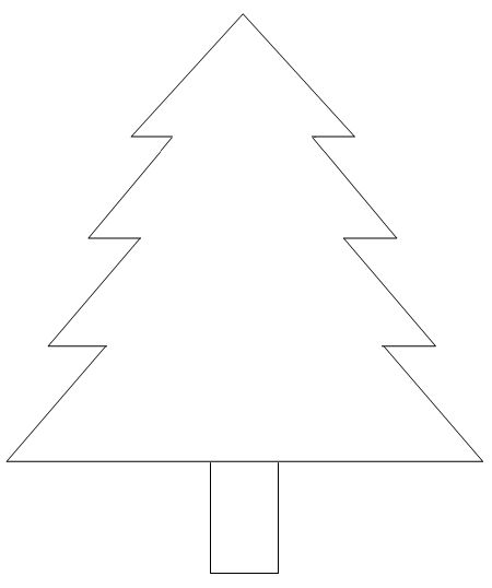 christmas tree template would be cute with tissue paper ornaments