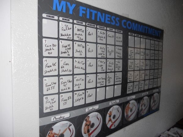 The schedule for the home workout Turbo Fire from Beachbody. Looks ...