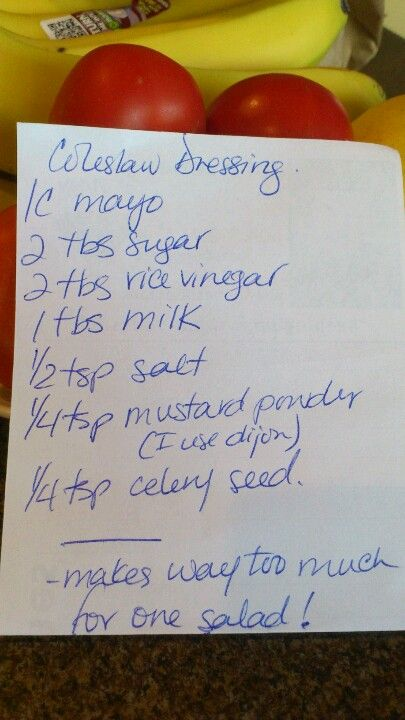 COMPLETED: Coleslaw dressing (Um, never buying coleslaw dressing in store ever again! SO freakin' good!)