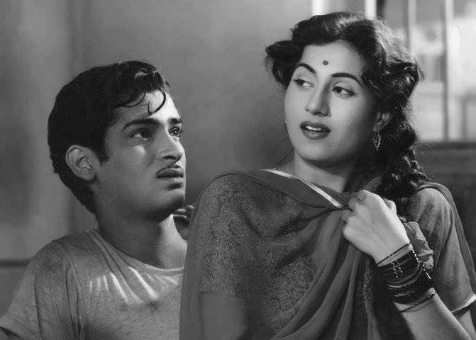 Shammi Kapoor and Madhubala in a still from 'Rail Ka Dibba'