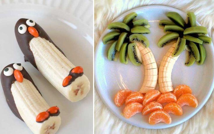 Lav bananer om til delfiner, palmer og pingviner, og server sommerens sødeste snacks.