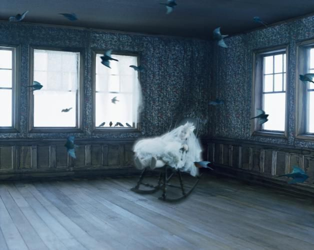 'You're what?, a rabbit asked a stranger at midnight's hour. 'Why, I'm the ghost of the sorrowful girl', the stranger replied, 'and never did I suppose that rabbits could talk.' Helena Blomqvist, Bluebirds, 2011