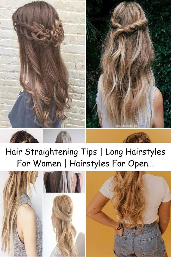Hair Straightening Tips Long Hairstyles For Women Hairstyles For Open Long Straight Hair In 2020 Straight Hairstyles Womens Hairstyles Long Straight Hair
