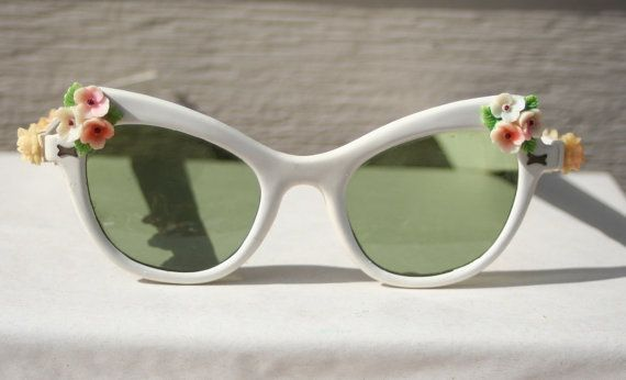 Quite possibly the prettiest pair of 1950s sunglasses I've ever seen.