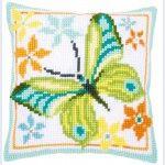 Green Butterfly - Kruissteekkussen - Vervaco