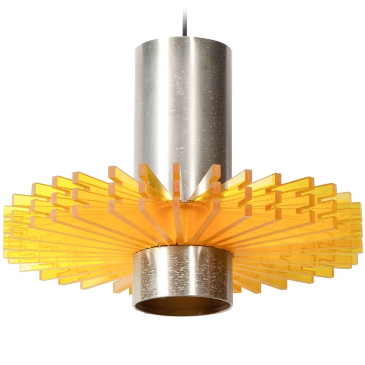 Orange Pendant Lamp by Claus Bonderup | From a unique collection of antique and modern chandeliers and pendants  at https://www.1stdibs.com/furniture/lighting/chandeliers-pendant-lights/