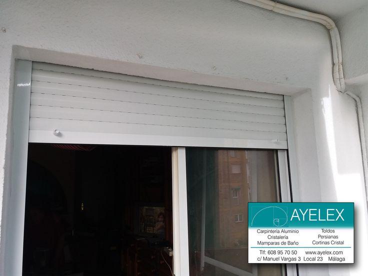 Cambio de persiana de pvc con cajón de madera por persiana cajón pvc y persiana de aluminio. Arroyo de la Miel (Málaga) 20/04/2016 www.ayelex.com