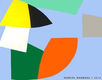 Marcel Barbeau - Coral Spring : Acrylique sur toile - 2005