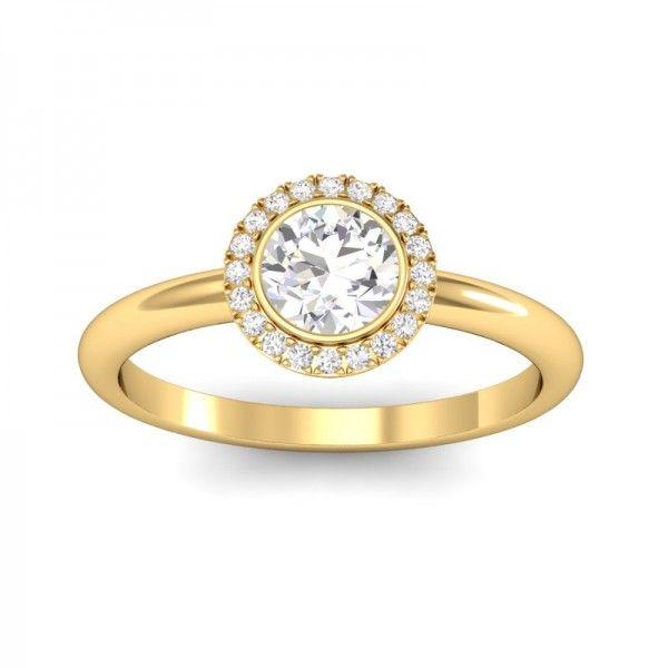 Halo Inspire in Gelbgold mit 0,6 ct Diamanten! #Verlobungsring #Haloring #Diamantring #Verlobung #VERLOBUNGSRING.de