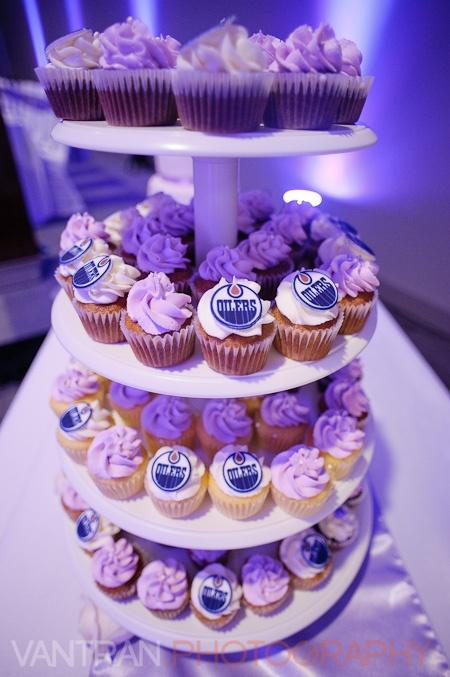 hockey oilers cupcakes
