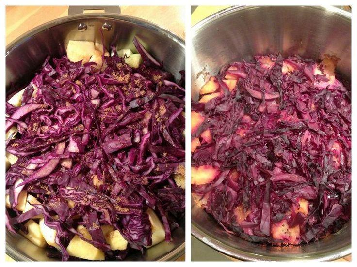 Chou rouge braisé aux pommes et aux épices