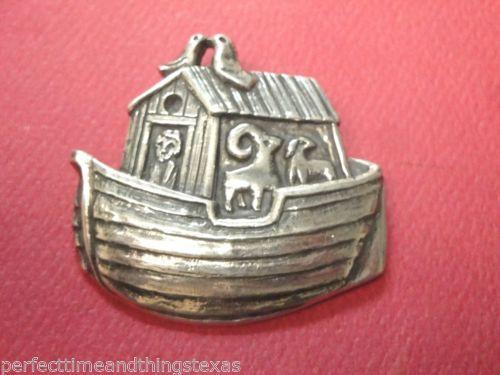James Avery Retired Noahs Ark Pin Sterling Silver 1 3 4