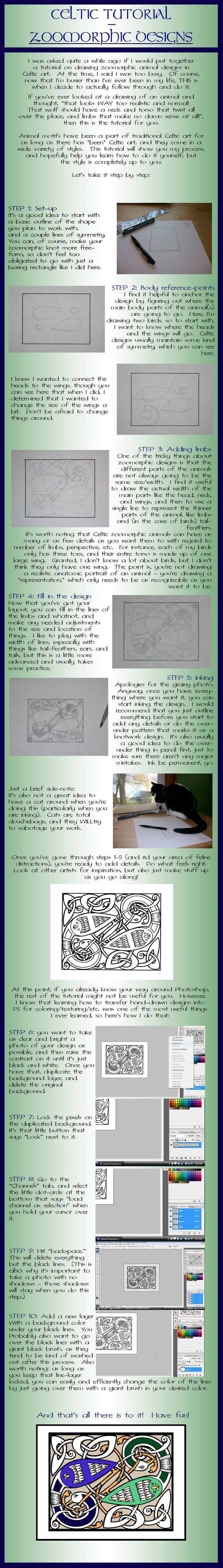 Tutorial - Celtic Zoomorphic Designs by one-rook