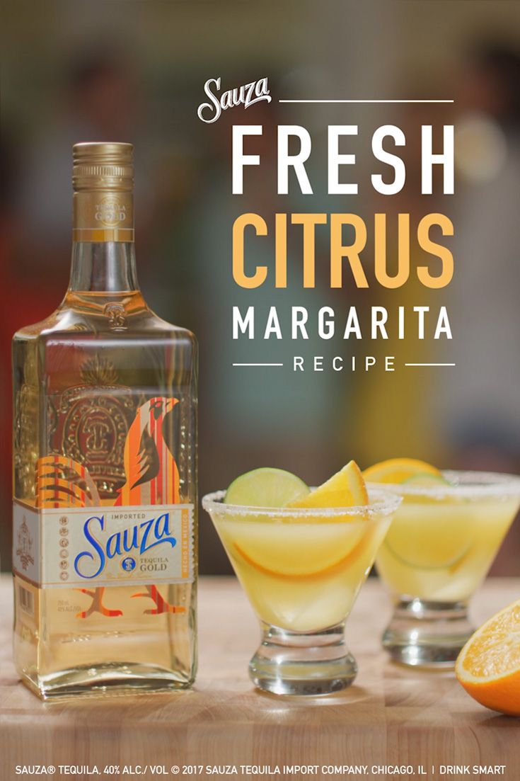 Looking for a fresh, new margarita recipe for your Cinco party? The Sauza® Citrus Margarita recipe will freshen up your celebration.   1 part Sauza® Gold ½ parts DeKuyper® Triple Sec Liqueur 2 parts orange juice 2 parts lime juice 2 parts agave nectar  Directions: Add all ingredients to an ice-filled shaker. Shake and strain over ice into glass.