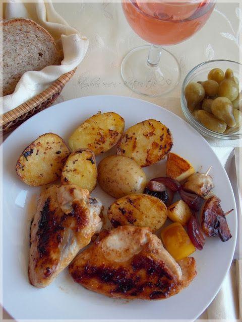 """...konyhán innen - kerten túl...: Karibi csirke """"őszi"""" körettel"""