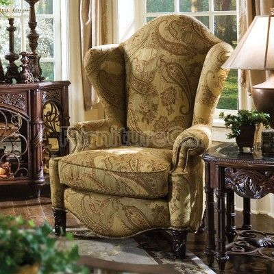 essex manor high back wing chair new furniturevictorian furnitureliving room - High Back Chairs For Living Room