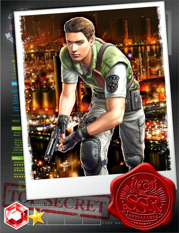 Chris Redfield Biohazard Team Survivor Re1 Resident Evil Anime