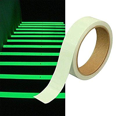 25mm x 10m Phosphor Klebeband Markierungsband Leuchtband nachtleuchtend Glow Klebebandabroller