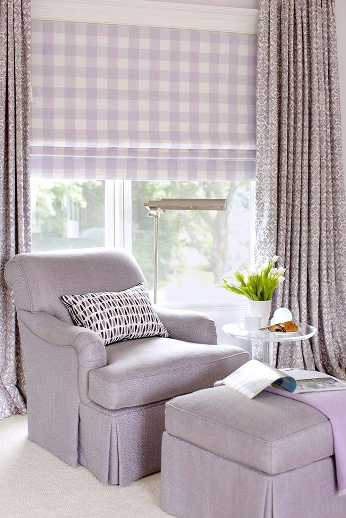 Lavender checks, solids and prints! Beautiful combination | Amanda Nisbet