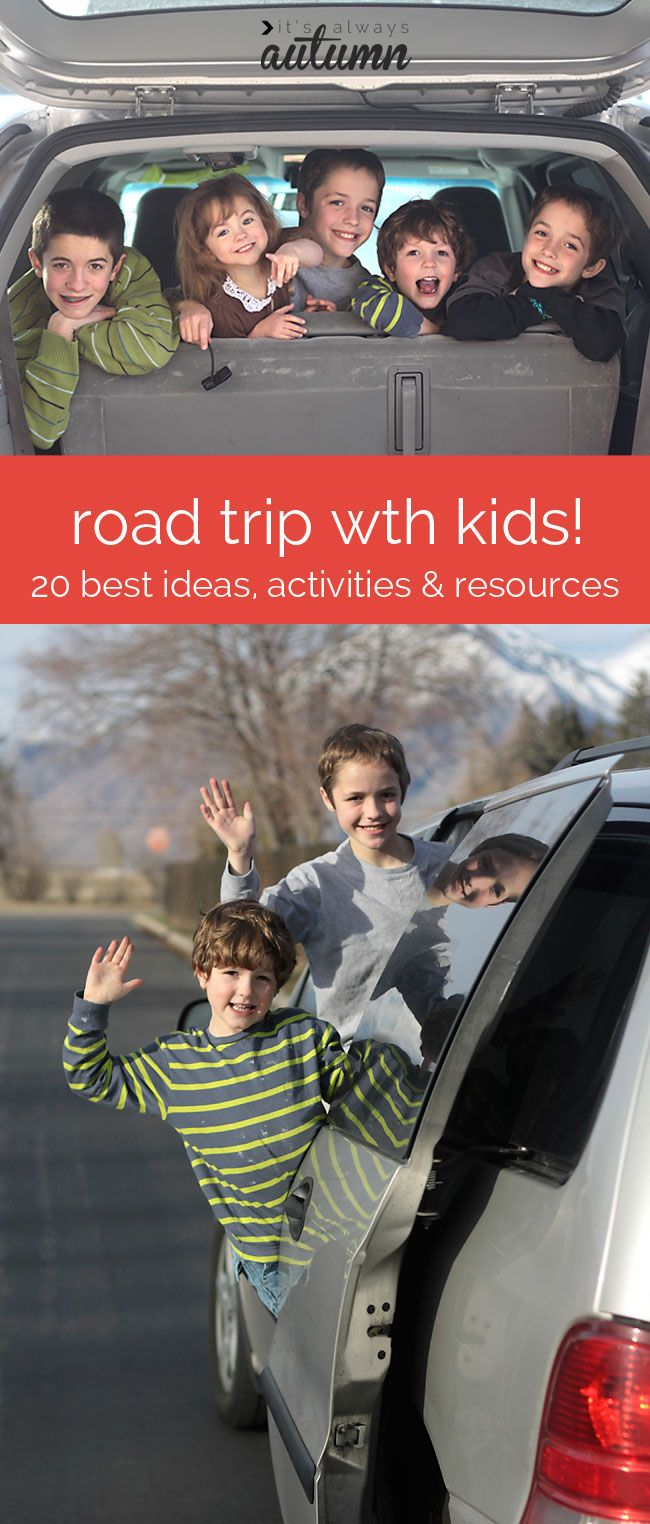 links to the best activities, snacks, and tips for road trips with kids - this will come in handy on our long car rides this summer!