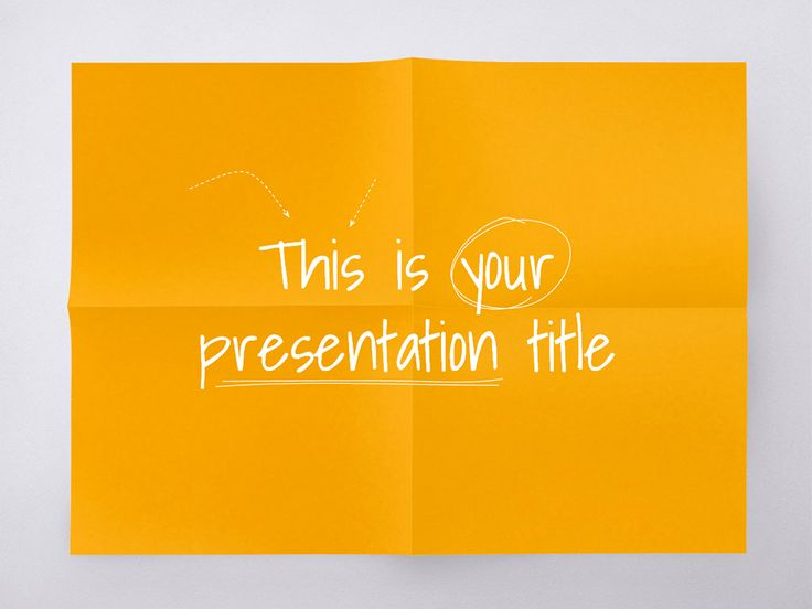 This playful and colorful free presentation template mimics a sheet of paper. You can use it in education, to present lessons or a creative project in your class, although it's also suitable for conferences