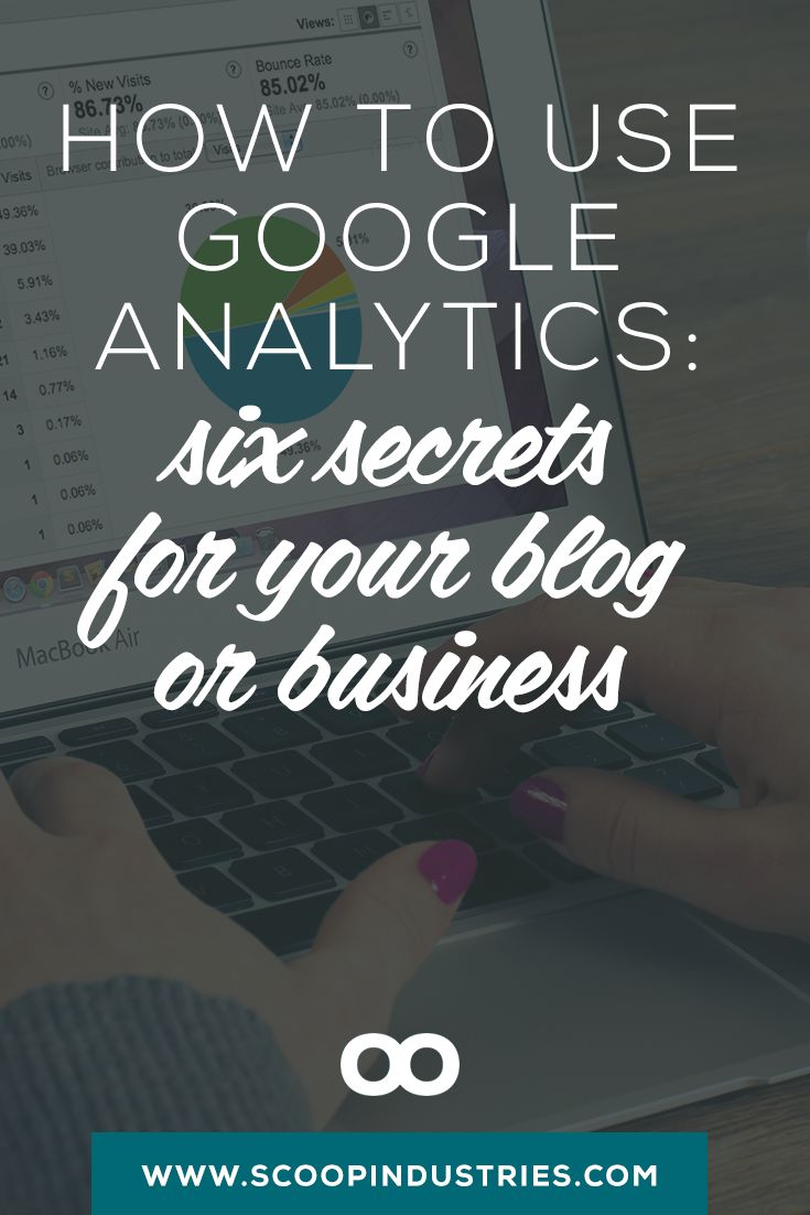 Use Google Analytics to Grow Your Business    If you're running a business where your website matters, make time for digging into your Google Analytics each month. Here's a short and sweet guide you'll want to *PIN as a resource*