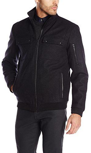 Calvin Klein Men's Wool-Blend Bomber Jacket