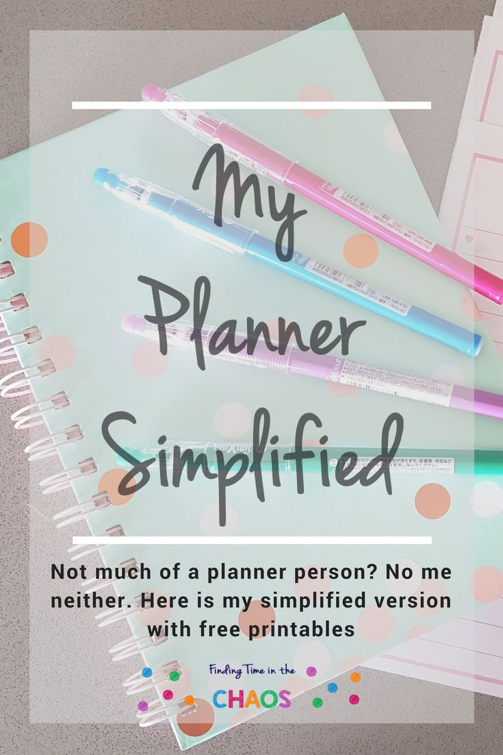 Not much of a planner person? No me neither. I have simplified my planning process and also have free printables to go with it. Head on over to http://findingtimeinthechaos.com.au/not-much-of-a-planner-person-no-me-neither/