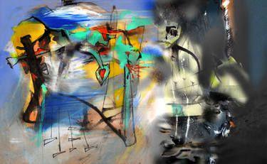 "Saatchi Art Artist Hernan Paravic; Painting, ""POLARITY INTEGRATION/POLARIDAD INTEGRADA 1"" #art"
