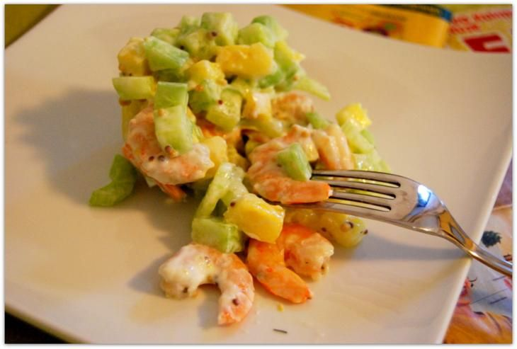 """Из серии просые рецепты """"салат с креветками"""""""
