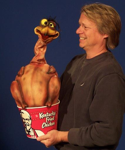 Fred the Fried Chicken Puppet / Cooked Turkey Puppet