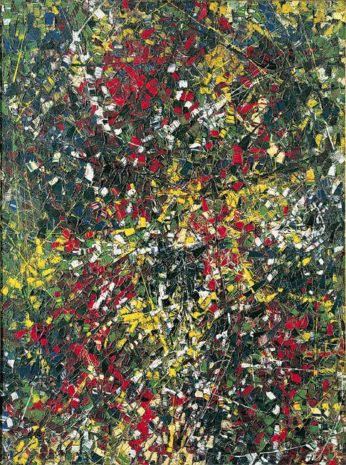 Jean Paul Riopelle, Robe of stars, 1952, huile sur toile, 200 x 150 cm