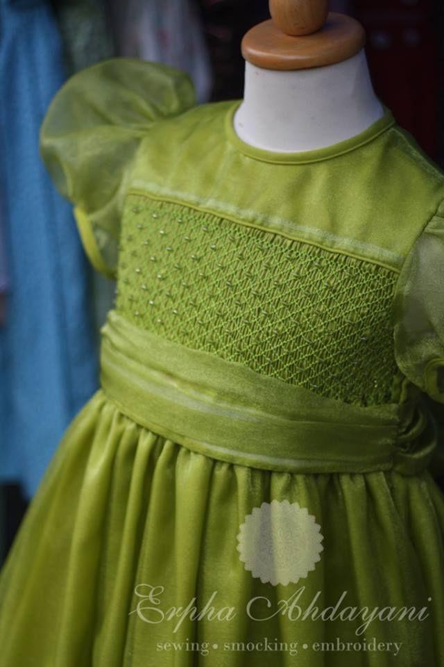 Lime green organza