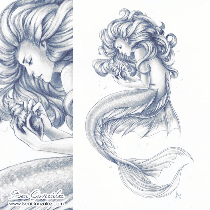 ideas about Beautiful Mermaid Drawing on Pinterest | Mermaid Drawings ...