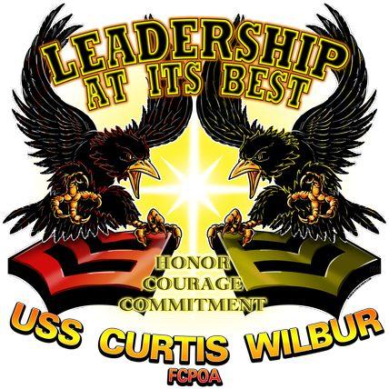 USS CURTIS WILBUR FCPOA Military Shirt $17.76