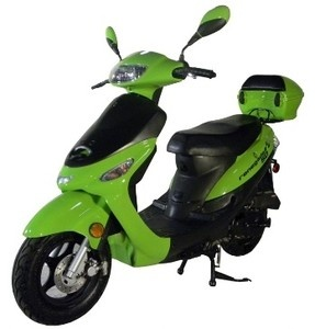 Renegade TPGS 805 Green Gas 49cc Moped Scooter w Rear Mounted Storage Trunk | eBay