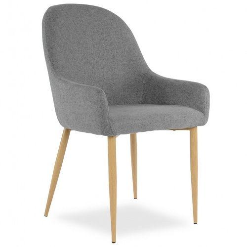 Tapicerowane krzesło MANUEL ciemny szary - Sklep meblownia.pl