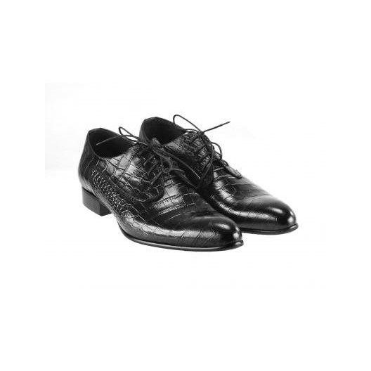 Pánske kožené spoločenské topánky čierne PT149 - manozo.hu