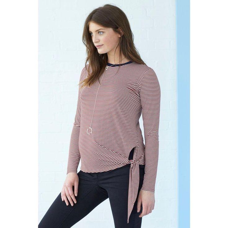 T-shirt maternité avec noeud Next - rayé rouge - Next - Femme - 3Suisses