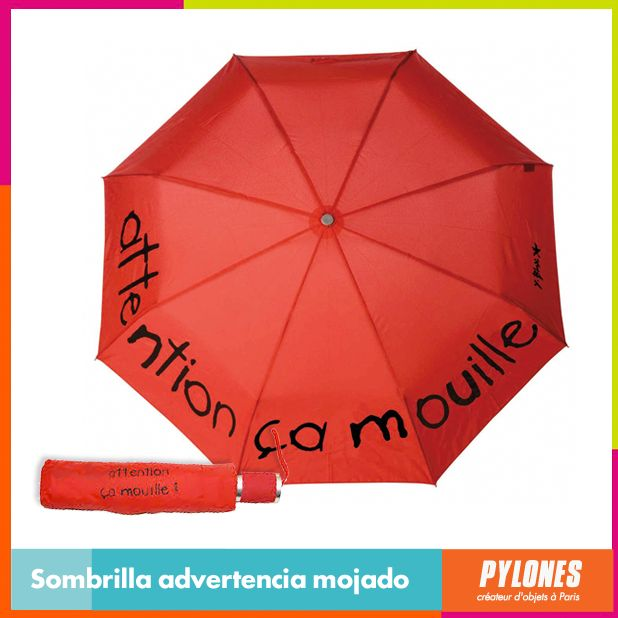#Sombrilla advertencia mojado #DíaDeLaMujer  Pylones Colombia