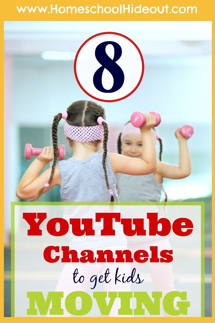 "We are LOVING this list of fun Homeschool PE Channel. My kids beg to do ""YouTube PE"" now!"