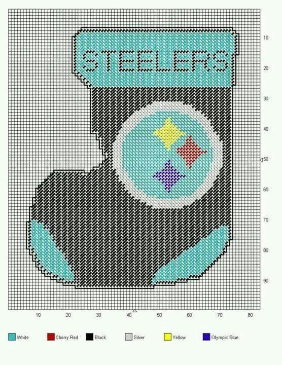 Steelers Stocking Steelers Plastic Canvas Pinterest