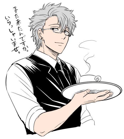 Gintama | Sakata Gintoki | Butler | Glasses