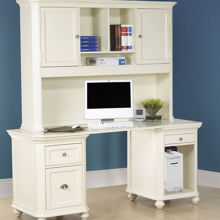 30 best images about office pantry ideas on pinterest cabinets offices and cottage style homes - Hutch style computer desk ...